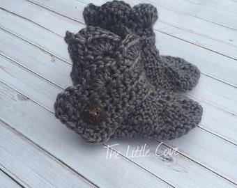 Crochet Ugg Inspired Baby Booties, Baby Girl Booties, Crocheted Baby Booties, Wrap Around Booties, Baby Girl Booties, Baby Boots