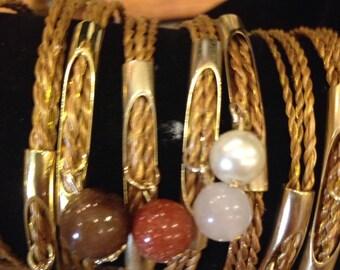 Bracelets w/charming stones