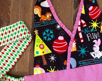 The Little • Girls - Age 3-6 | Frosty the Snowman | Kids Apron | Baking Apron | Girls Apron | Cooking Apron | Cooking Apron | Handmade