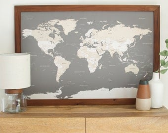 United States Travel Map Push Pin Travel Map Push Pin Map - Framed us map