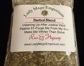Rue & Hyssop Herbal Blend - Purge, Purify, Remove Sin - Wicca Voodoo Hoodoo Santeria Pagan Smudge