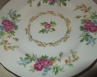 Royal Chelsea Floral Sprays Saucer & Side Plate