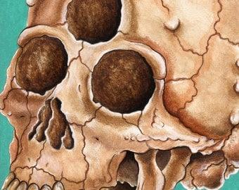 Alien Three Eyed Skull