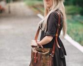 Hand painted Genuine Leather Bag,  Genuine Leather Handmade Bag, Laptop bag, Leather Laptop Bag, Custom Bag