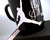 1 MUG, come fly with me, AIR JORDAN mug, handmade with vinyl, decal