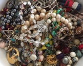 Lot of broken jewelry with beads