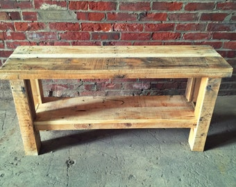 Reclaimed Pallet Foot Bench