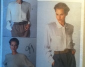 "Vogue American Designer Blouse Pattern 2397 Size: 6-10, Bust 30""-32"", Waist 23""-25"", Hip 32""-34"". View C is cut to size 8."