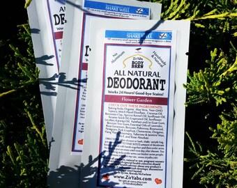 SAMPLE POUCH Amazing 24 Hour Natural Deodorant FLOWER Garden