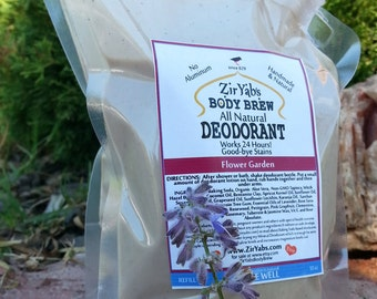 Refill 10 Oz FLOWER GARDEN Natural Deodorant Nozzle Bag