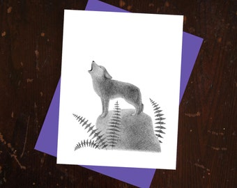 Coyote Notecard