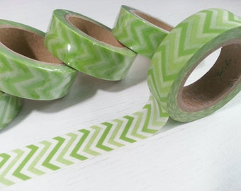 Green Washi / Masking Tape - 10M
