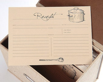 Recipe cards Cloth set 50 pcs