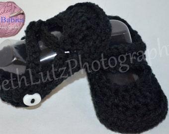 Baby Shower Gift Girl. 0-3 months Baby Girl Dress Shoes, Baby Girl Booties, Infant Girl Dress Shoes, Baby Gift, New Baby Gift, Black Shoes