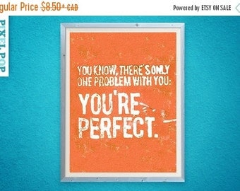 30% OFF There is Only One Problem With You: You're Perfect // art print