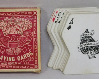 Vintage Crooked Deck Novelty Playing Cards Freed Novelty NY