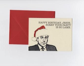 Happy Birthday Jesus // Michael Scott // The Office Christmas Card