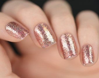 Nail art etsy juliette rose gold holographic nail polish prinsesfo Choice Image