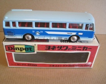 Diapet B-27 Japanese 1/60 Two Tone Blue Bus Yonezawa Toys Mint in Box