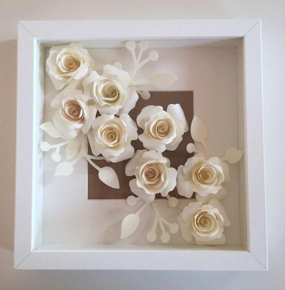 Quadro con rose di carta for Quadri fiori stilizzati