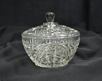 Antique Covered Lead Crystal Candy Dish