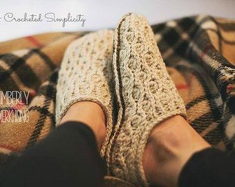 Crochet Pattern: Winter Waves Slippers
