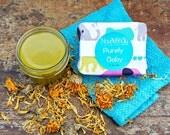 Organic Baby Gift Set, natural baby shower gift, calendula baby gift, holistic baby shower gift set, herbal baby skincare, calendula soap