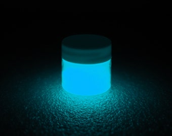 Aqua Glow in the Dark Paint - 1 oz