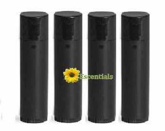 Black Lip Balm Tube - 10 Pack