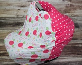 Personalized CAR SEAT Multi-Use Cover- Spring Floral/ Polka Dot