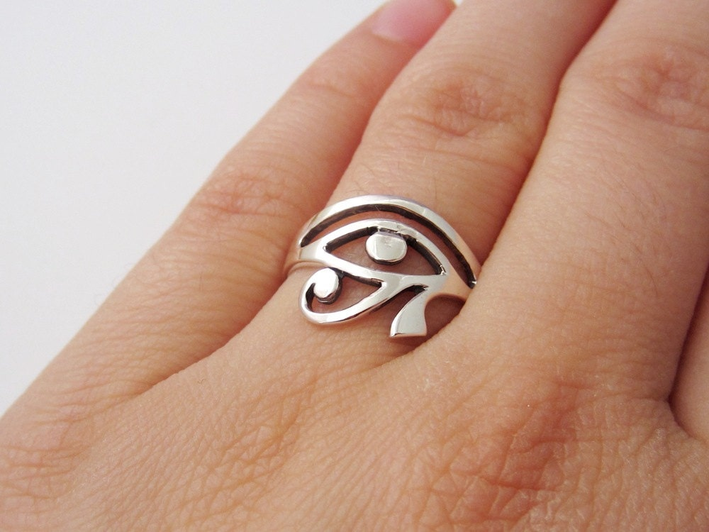 eye of horus ring 925 sterling silver jewelry