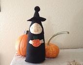 Folk Art Witch Halloween Decoration