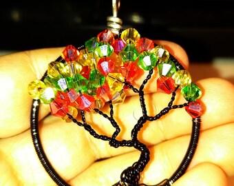 Black with fall swarvoski tree of life
