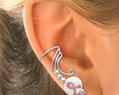 OCT. **SPECIAL**  Ear Cuffs with Pink Ribbons 25.00 pair NONPIERCED Sterling Silver