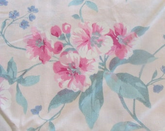 Victorian Flowers on Cream Cotton