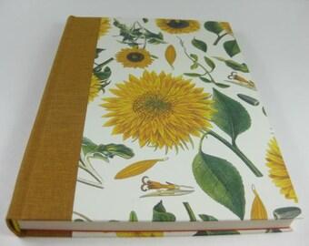 Scetchbook Diary Handbound Book Journal Flower Sun