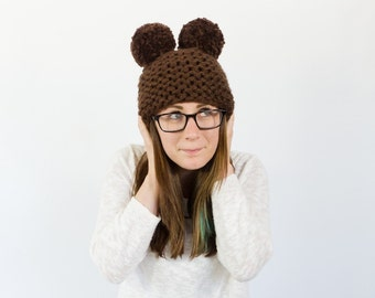 Knit bear hat || the WAGONER || shown in chocolate