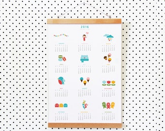 Year of Colours Printable Calendar 2016 | A3 poster Calendar (Instant Download)