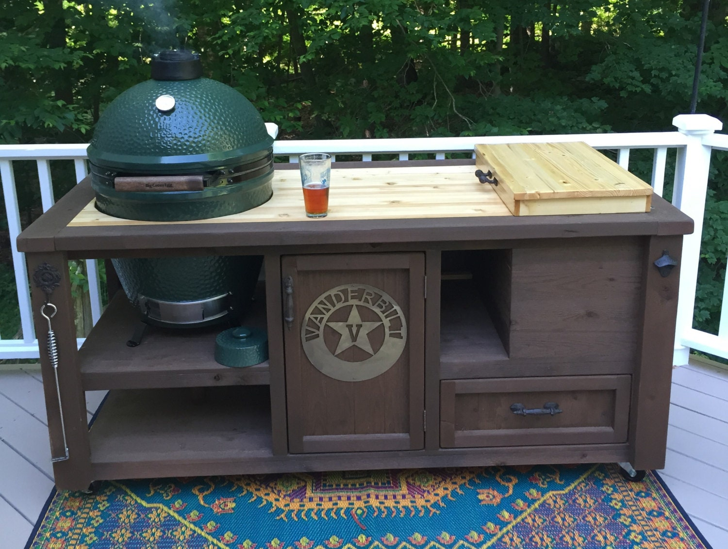 custom grill tables kamado joe big green egg primo dual. Black Bedroom Furniture Sets. Home Design Ideas