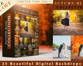 Autumn Bliss - 25 Digital Backdrops