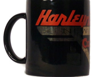 Harley Davidson Coffee Mug New York Cafe Cup Motorcycles Black Harley Mug Ceramic Coffee Mug Motorcycle Mug