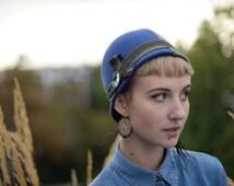 Colorblocked Cloche Hat