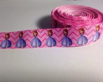 "Princess Sofia 7/8"" Grosgrain Ribbon 1 yard"