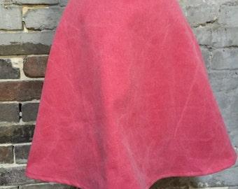 Skirt handmade pink denim vintage fabric