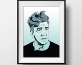 David Lynch Poster - Twin Peaks - Graphic Illustration A4 - Art Print