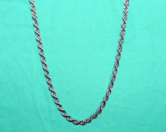 """Sterling silver 925 Italian rope chain 18"""" long."""