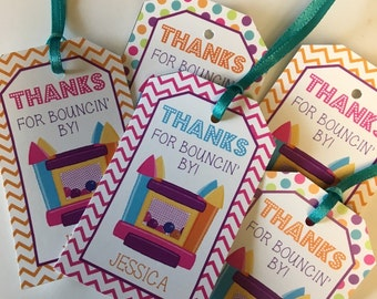 Favor Tags, Bounce House Tags, Bounce House Party, Birthday Favor Tags