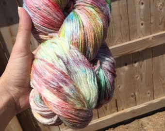 SALE Hand dyed Worsted weight yarn - Candy Store reg 18.00