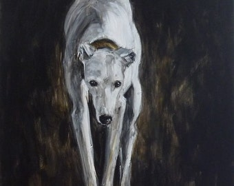Greyhound original painting