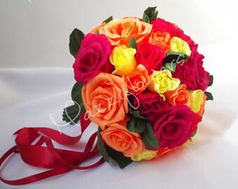 Wedding bouquet, bridal bouquet, paper flowers, paper flower bouquet,wedding flowers,bouquets,paper flowers roses.